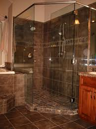 Wood Shower Door by Elegant Bathroom With Shower Tiles Designoursign