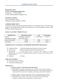 exle of a student resume himanshu new resume