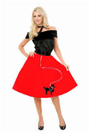 Size 3x Halloween Costumes 50s Red Poodle Skirt Women U0027s Halloween Costume Accessory Size