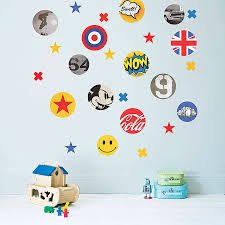 children u0027s pop art fabric wall stickers by koko kids