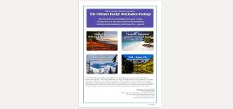 ultimate family destination auction vacation package sav