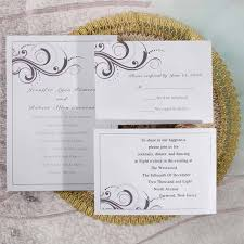 Inexpensive Wedding Invitations Simple White And Grey Inexpensive Printable Wedding Invites Online