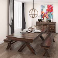 rosewood long dining table with benches and sideboard
