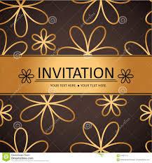 Background Invitation Card Art Brown Golden Background Invitation Card Stock Vector Image