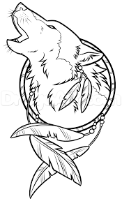 drawing a wolf dreamcatcher 8 wood burning