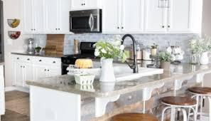 diy whitewashed faux brick backsplash bless u0027er house