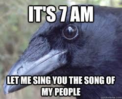 Crow Meme - crow bastard memes quickmeme