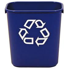 rubbermaid commercial products 13 qt recycling bin fg295573blue
