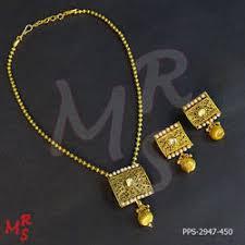 gold sets design gold toned square shape simple pendant set at rs 950 set s