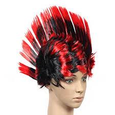 Halloween Costume Wigs Amazon Halloween Costume Party Wigs Mohawk Hair Punk Dress