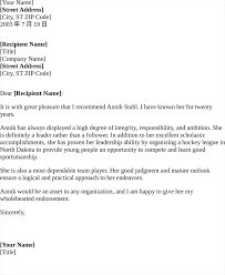 recommendation letter for friend best business template