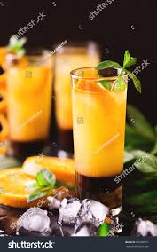 chocolate mint martini aperitif vodka orange juice chocolate mint stock photo 652988251