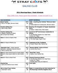 Dinner Party Agenda - 2011 interline regatta party schedule