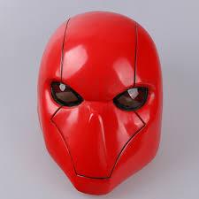 Bat Man Red Hood Mask Red Pvc Halloween Helmet New