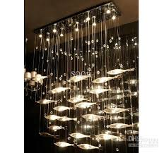 Glass Chandeliers For Dining Room Modern Fashion Glass Fish Swarm Ceiling Light Chandelier Dining