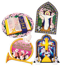 religious easter decorations religious easter cutouts