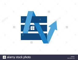real estate finance logo arrow house letter a e n elements