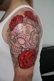 sugar skull sleeve designs skulls one