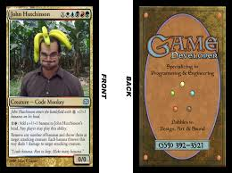 Resume Magic Magic The Gathering Parody Business Cards Level X Games