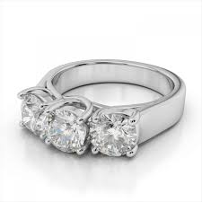 3 diamond rings 3 0 ct t w 3 diamond fashion ring in 14k white gold