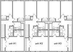 Townhouse House Plans Triplex House Plans Small Townhouse Plans Triplex House Plans