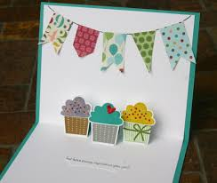 pop up birthday card stin up pop up cupcake birthday card 3 paper into