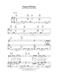 stevie wonder happy birthday download happy birthday sheet music by stevie wonder sheet music plus