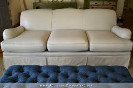 i painted my sofa before u0026 after