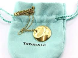 gold round necklace images Tiffany co elsa peretti 18k 750 yellow gold round pendant jpg