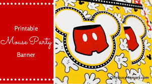 free printable mickey mouse banner onebusymommy