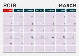 desk pad calendar 2018 monthly desk pad calendar template march 2018 vector illustration