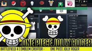Custom Flag Maker Battlefield Emblems Creator One Piece Jolly Roger Qonkey