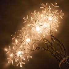 snowflake string of lights battery operated led snowflake string lights 10 warm white lights