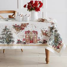 christmas table linens sale twas the night before christmas tablecloth williams sonoma