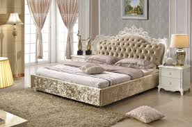 Bedroom Furniture King Size Bed Bedroom Furniture King Size Fabric Bed Brown Color Made In China