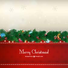 christmas garland card vector free download
