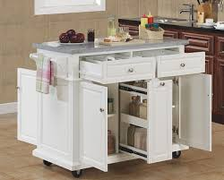 roll around kitchen island white movable kitchen island stylish kitchen design