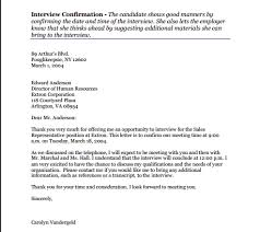 interview confirmation email writing professional letters