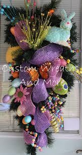 gorgeous easter swag teardrop wreath w by customwreathsandmore