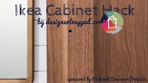 ikea cabinet doors and drawers hack youtube