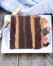 chocolate fudge layer cake sundaysupper that skinny can bake