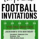football birthday party invitations football birthday party