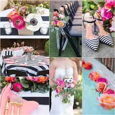 black and white wedding ideas whimsical black white striped wedding pizzazzerie