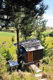 new zealand tree house w bath tub draw bridge solar burrito