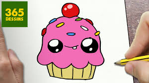 comment dessiner cupcake kawaii étape par étape u2013 dessins kawaii