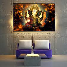 hindu decorations for home ganesha gods canvas paintings for living room hindu gods home
