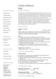 Sample Resume For Chef Position by Professional Resume Cover Letter Sample Chef Resume Free