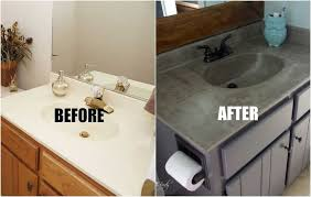 how to redo bathroom cabinets for cheap diy bathroom vanity top for modern concept diy concrete vanity for 20 our bathrooms are full of cultured 10 jpg