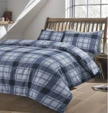 highland tartan check brushed cotton flannelette duvet cover flannel
