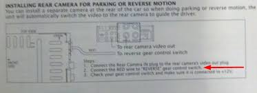 installing a backup camera it asks me to connect 1 wire to the